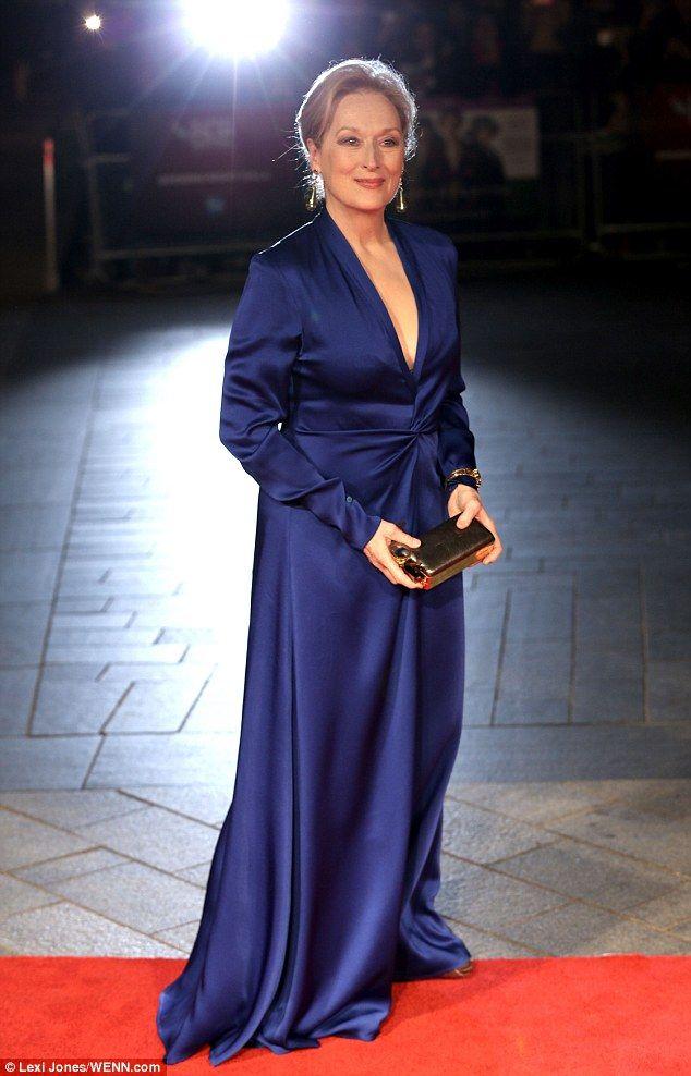 Meryl Streep Blue Gown