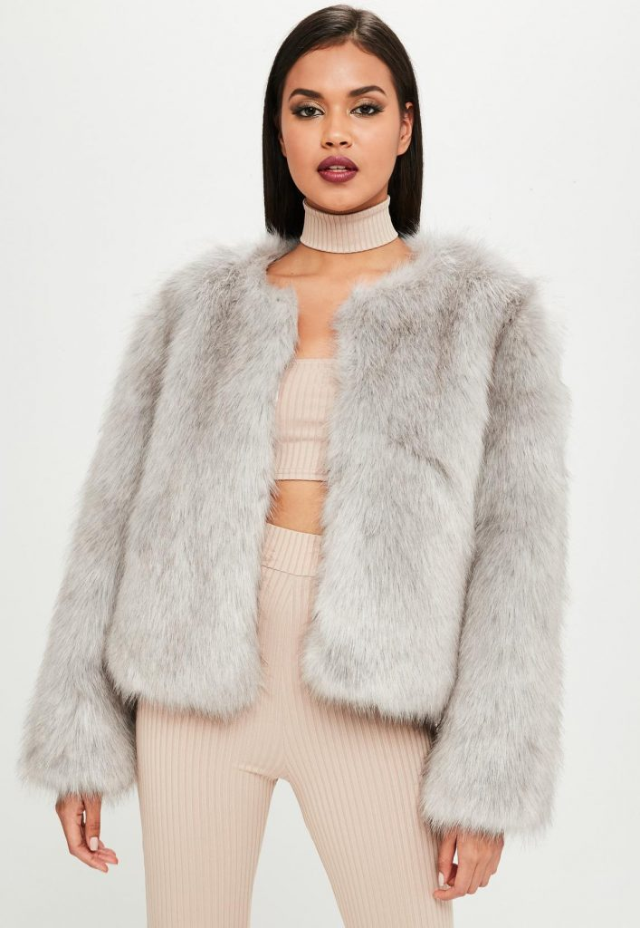 carli-bybel-x-missguided-gray-faux-fur-jacket